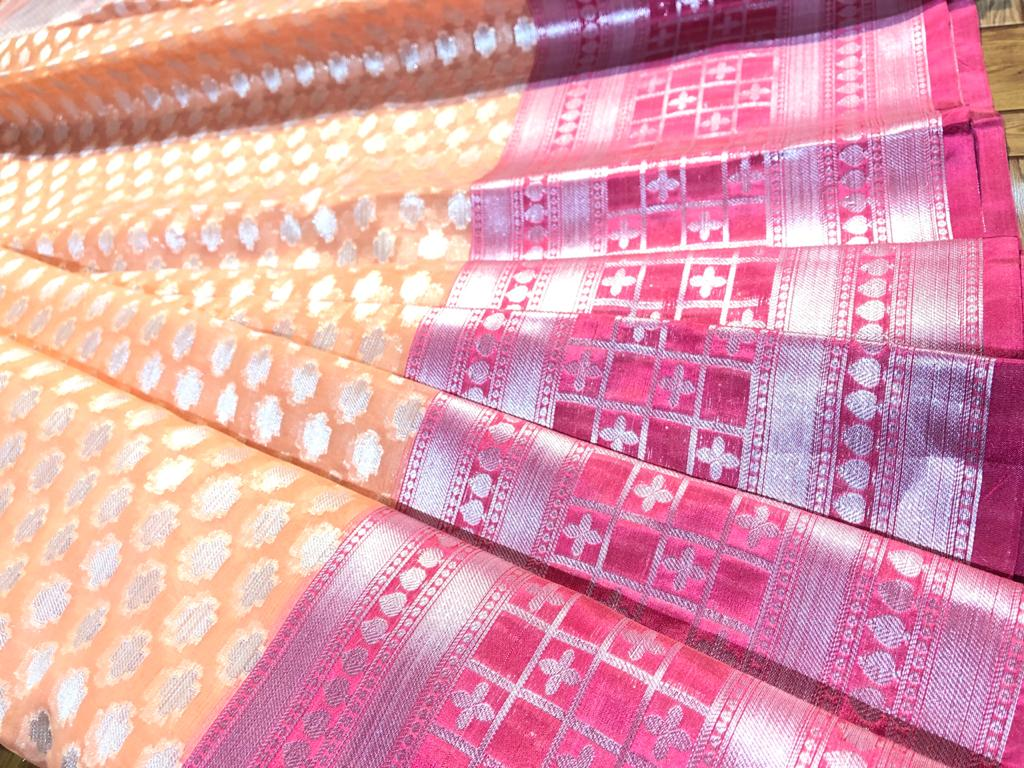 ORGANZA BANARSI ART SAREE